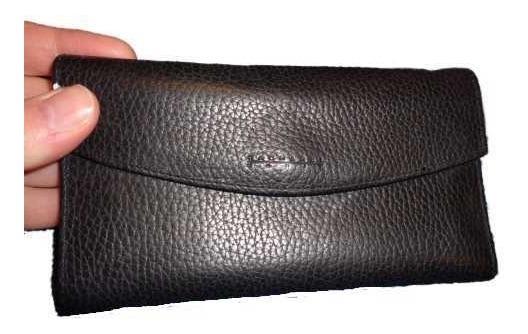 Billetera De Mujer Con Tarjetero En Ecocuer Color Negro