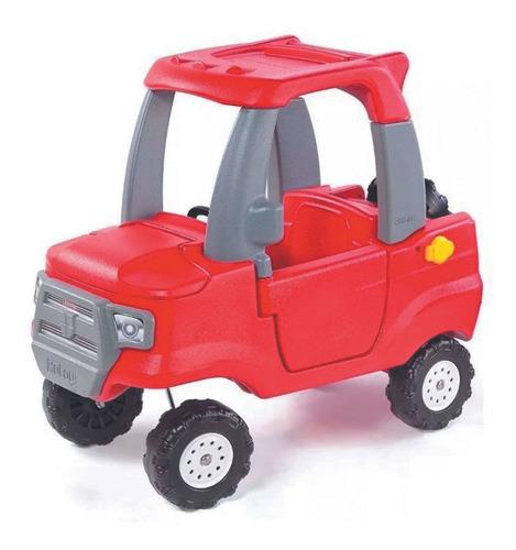 Imagen 1 de 3 de Camioneta Roja Borravino Y Accesorios Grises Rotoys Original