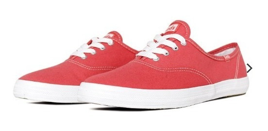Tênis Keds Champion Woman Canvas Coral Kd100361