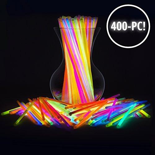 Glow Sticks Bulk 400 Count - 8 Partysticks Marca Premium Glo