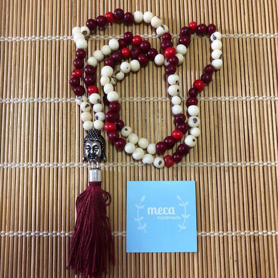 Japamala Em 108 Contas Semente Açai Hooponopono Vinho Buda