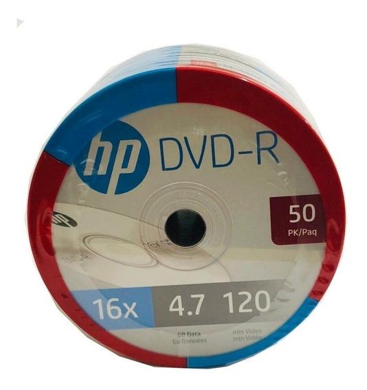 Dvd-r Hp 16x 4.7gb 50 Pzas Si Requieres Mas De 50 Avísame!