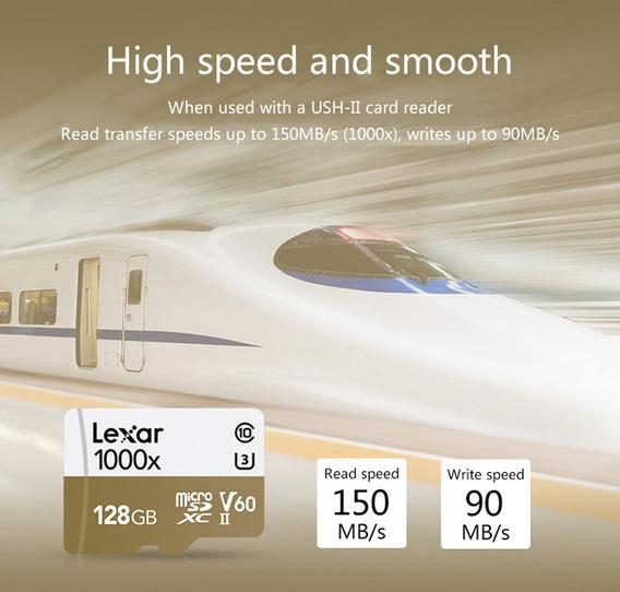 Cartão Microsd Lexa1000x 64gb Profissional Super 150mb/s
