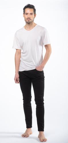 Jean Skinny Color Negro Hombre - Mizu