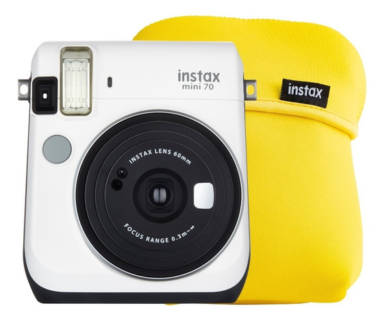 Cámara Instantánea Fujifilm Instax Mini 70 Blanco Más Funda