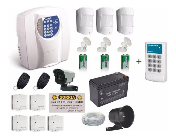 Kit Alarme Residencial C/ Sensor S/fio Genno + Discadora Gsm