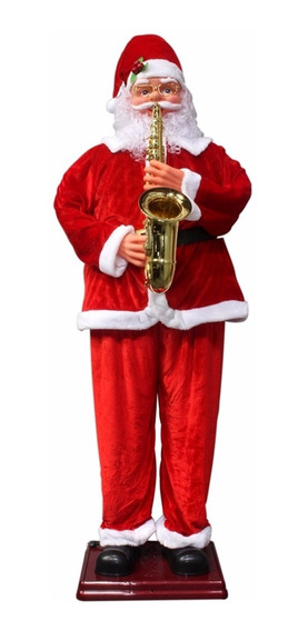 Papai Noel Animado Dança Toca Sax 1,80m Vermelho