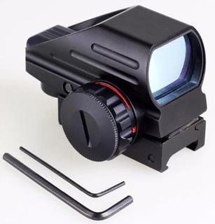 Mini Mira Holográfica Reflex 4 Retículas Verde/rojo