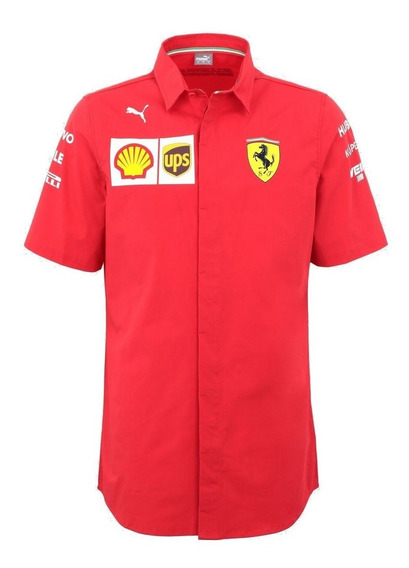 Camisa Ferrari Puma Leclerc Vettel Genuina F1 Linea 2019