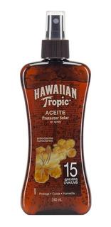 Aceite Bronceador Hawaiian Tropic Tanning Fps15 Spray 240 Ml
