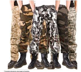 Pantalon Militar Gotcha Campismo Uso Rudo Varios Colores