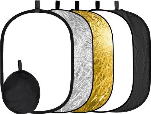 Imagem 1 de 1 de Rebatedor Retangular Oval Fotográfico 5 Em 1 90cmx120cm