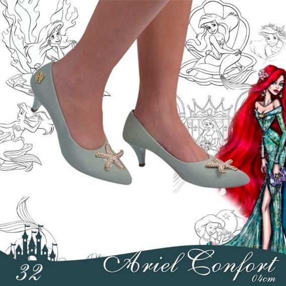 Scarpin Confort Feminino Princesas Disney Ariel