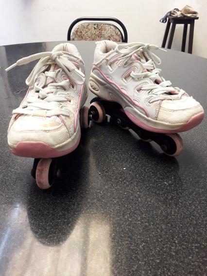 Zapatillas Con Rueditas Tipo Rollers Desmontables Talle 35