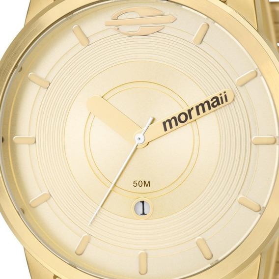 Relógio Masculino Dourado Aço Mormaii Mo2115ac/4d Original
