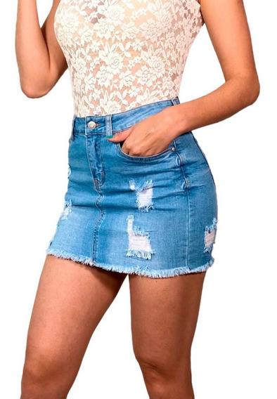 Faldas De Mezclilla Cortas Sexys Mujer De Moda 2 /j