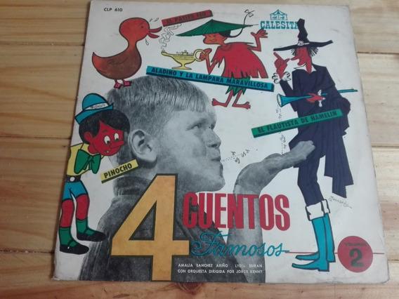 Disco Calesita - 4 Cuentos Famosos - Vinilo / Lp Infantil