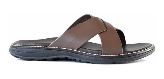 Sandalia Cuero Briganti Zapato Tiras Cruzadas Goma Hcsd01320