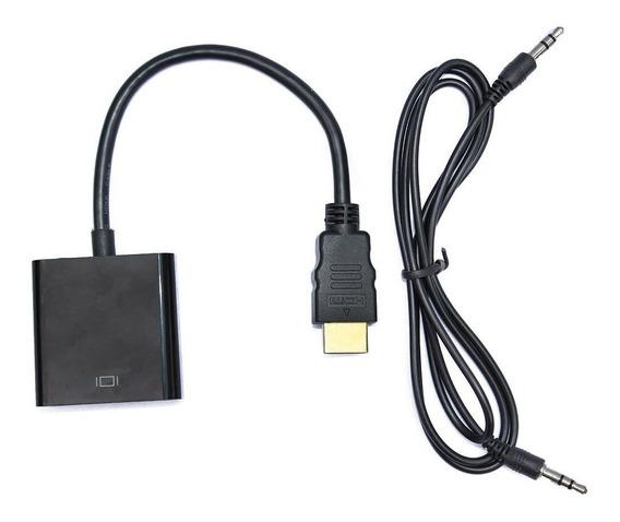 Cable Adaptador Conversor Hdmi A Vga Con Audio Full Hd 1080p