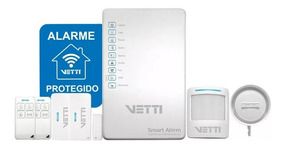 Kit Alarme Vetti - Smart Alarm Kit + Gsm Sem Fio