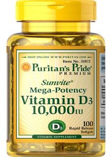 Vitamin D3 10.000iu 100 Softgels Puritan´s Pride