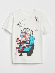 Camiseta Gap Pipoca 8-9 Anos Menino