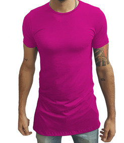 Camisa Long Oversized Swag Longline Slim Viscolycra Vinho