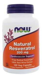 Natural Trans Resveratrol Now 200mg 120 Caps Pronta Entrega
