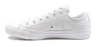 Tenis Converse Blanco Piel Choclo Taylor Original 3 Al 11