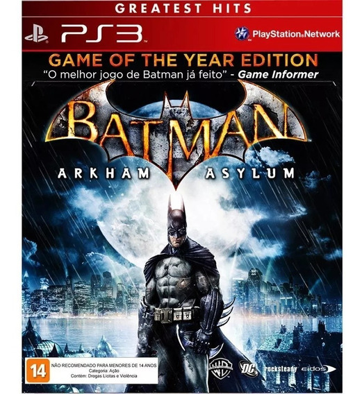 Jogo Game Ps3 Batman: Arkham Asylum