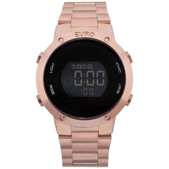 Relógio Digital Euro Feminino Rose Gold Eubj3279af/4j