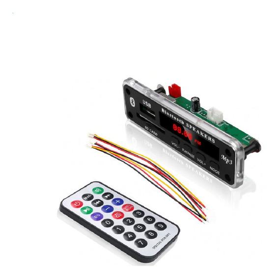 Placa Bluetooth Decodificadora Usb Mp3 Fm Auxiliar 12v