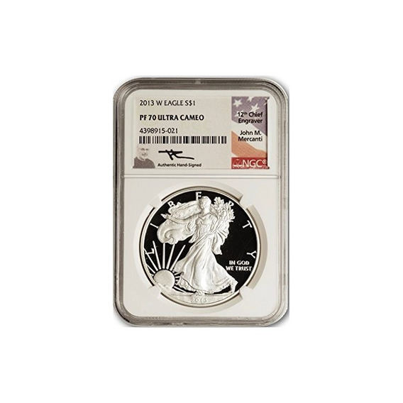 2013 No Mint Mark American Silver Eagle $ 1 Ngc Pf70