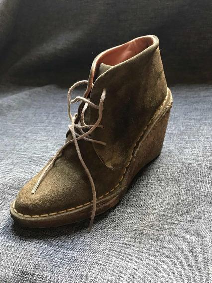 Zapatos Abotinados De Gamuza