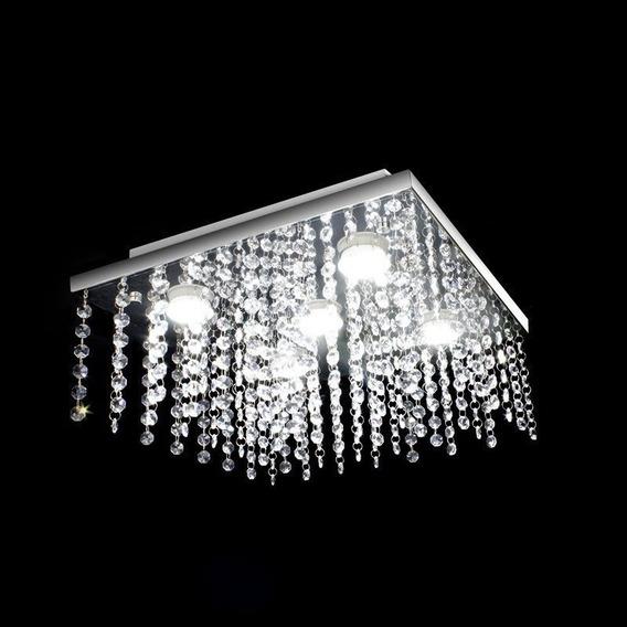 Lustre De Cristal Acrílico Modelo Queen 38x38 - Melhor Preço