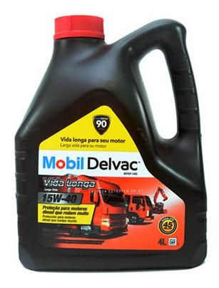 Aceite De Motor Mobil 4 Litros 15w40 Mineral Mobil Delvac Su