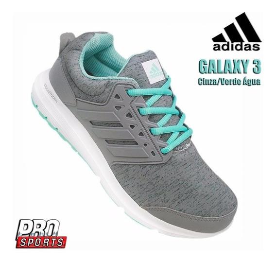 adidas Tênis Galaxy 3 W Cinza Verde Água - Original -