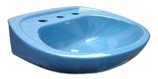 Lavatorio Ferrum Andina De 3 Agujeros Azul Fuerza Aerea Lea3fa Porcelana Sanitaria