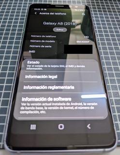 Galaxy A8 2018 Usado Lavanda