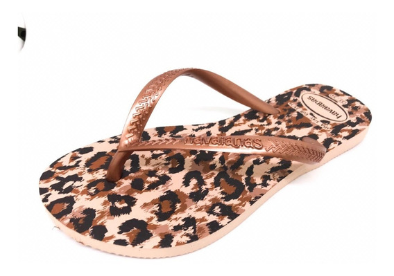 Chinelo Feminino Havaianas Slim Top Animals Colonelli