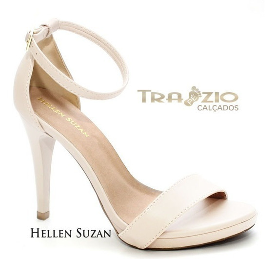 Sandália Modelo Gisele Napa Off White Hellen Suzan
