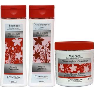 Tratamento Cabelos Tingidos Shampoo Condicionador Máscara