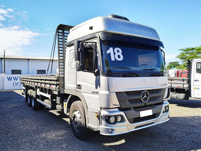 Mercedes Benz Atego 2430 2018 6x2 Carroceria, Sb Veiculos