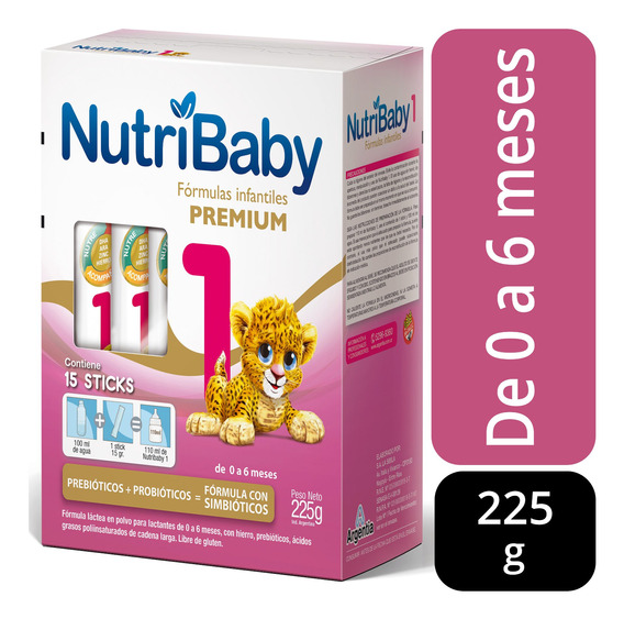 Nutribaby 1 Premium Leche 0 A 6 Meses Estuche X 15 Stick
