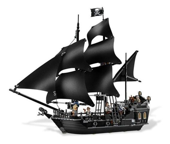 Bloco Montar Navio Piratas Do Caribe Perola Negra 870 Peças