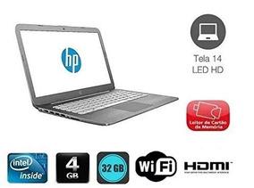 Notebook Hp Intel Dual Core 4gb Tela 14 Windows 10 - Novo