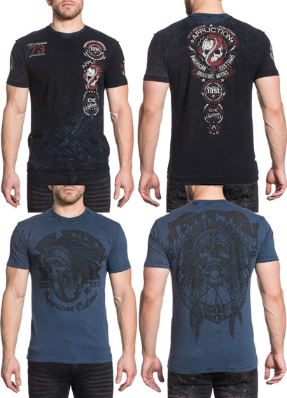 Remera Affliction Bull Run