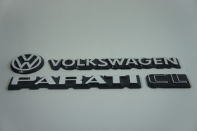 Kit Emblema Volkswagen Parati Vw Mala Cl 83 À 90 Brinde