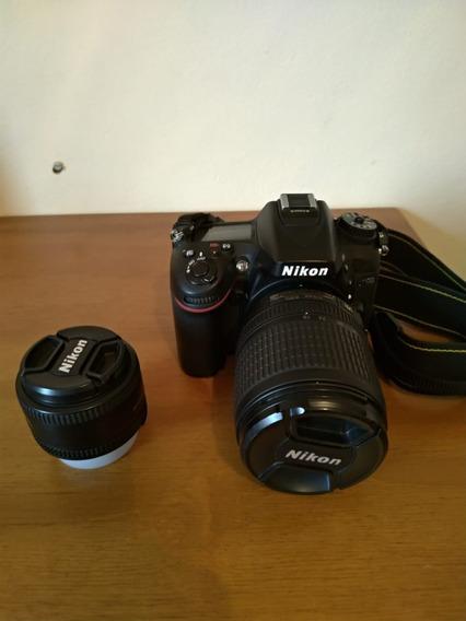 Nikon D7100 + Lente 50mm 1.8 + Lente 18-105mm