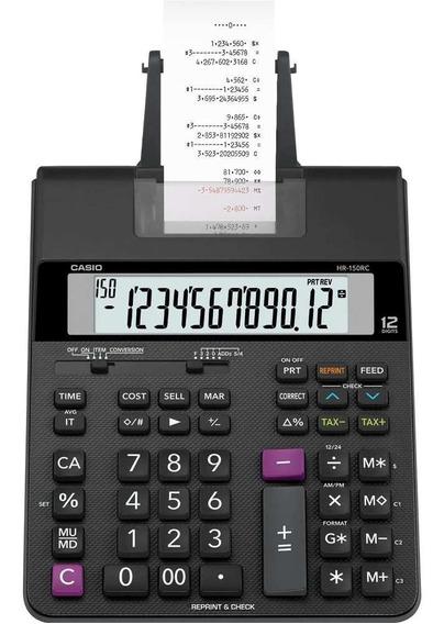 Calculadora Com Bobina Casio Hr-150 Rc Impressão Em 2 Cores